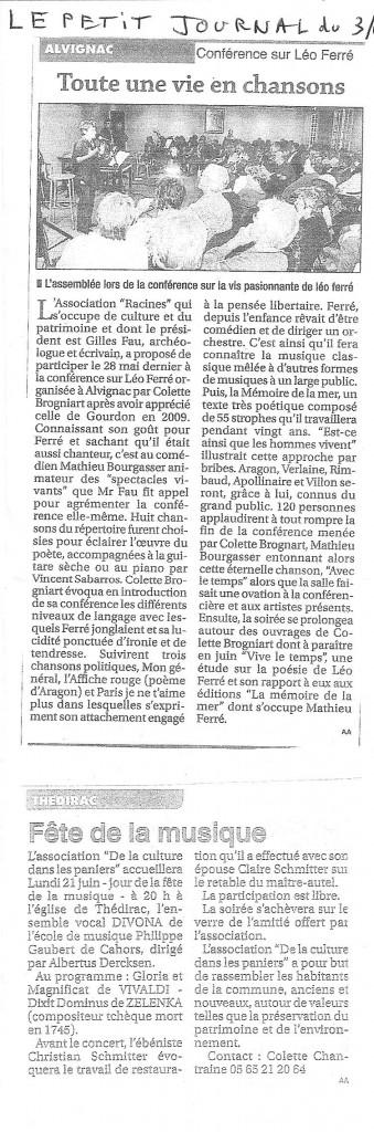 conférence Léo - Petit journal