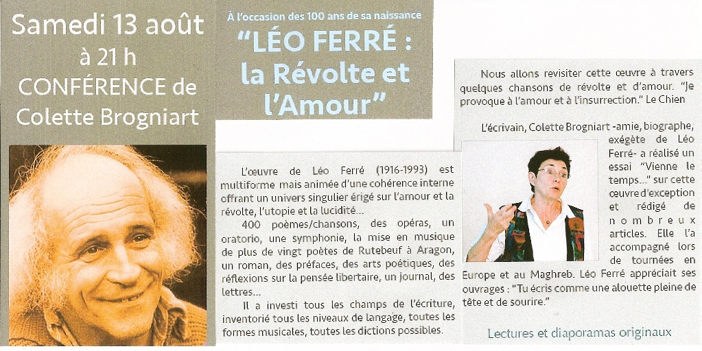 conference Leo Ferre Fitou