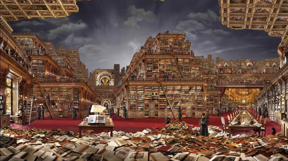 Rauzier amas de livres