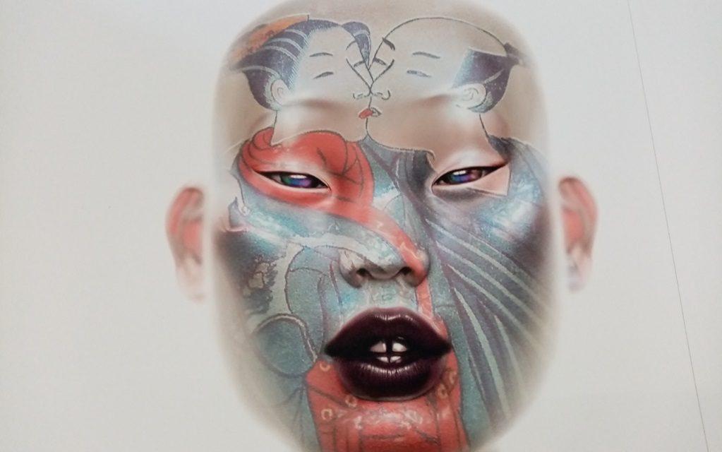 visage grimé japonais